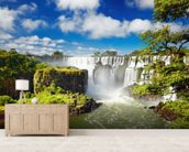Iguassu Falls from Argentinian side mural wallpaper living room preview
