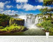 Iguassu Falls from Argentinian side mural wallpaper in-room view