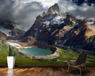 Mount Fitz Roy wallpaper mural