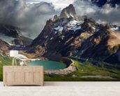 Mount Fitz Roy wallpaper mural living room preview