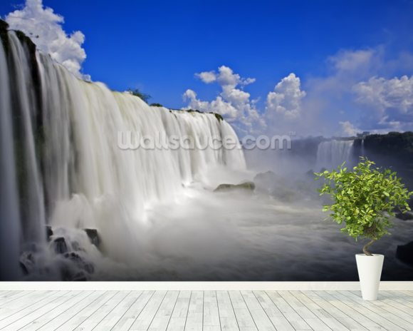 Iguassu Falls mural wallpaper room setting