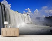 Iguassu Falls mural wallpaper living room preview