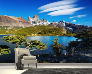 Mount Fitz Roy, Patagonia wallpaper mural