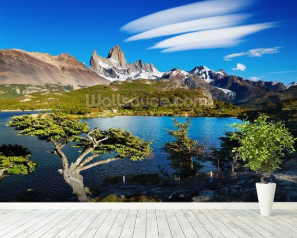 Mount Fitz Roy, Patagonia wallpaper mural room setting