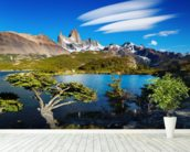Mount Fitz Roy, Patagonia wallpaper mural in-room view