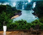 Iguassu Falls, Brazillian Side mural wallpaper kitchen preview
