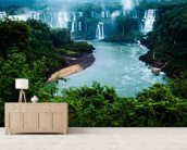 Iguassu Falls, Brazillian Side mural wallpaper living room preview