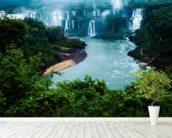 Iguassu Falls, Brazillian Side mural wallpaper in-room view