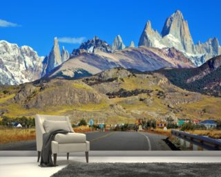 Patagonia Highway mural wallpaper