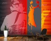 Argentine Tango mural wallpaper kitchen preview