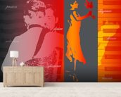 Argentine Tango mural wallpaper living room preview