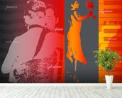Argentine Tango mural wallpaper in-room view