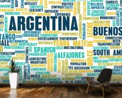 Argentina World Cloud wall mural kitchen preview