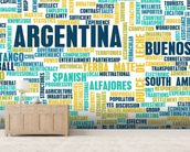 Argentina World Cloud wall mural living room preview