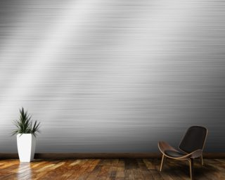 Brushed Steel Wallpaper Wall Murals