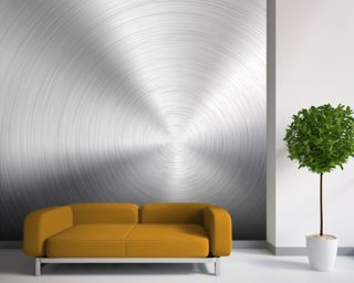 Circular Metal Brushed Texture Wallpaper Wall Murals