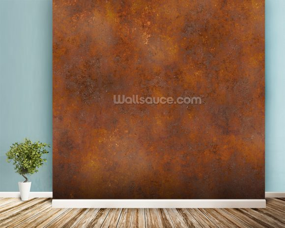 Rust Effect mural wallpaper room setting