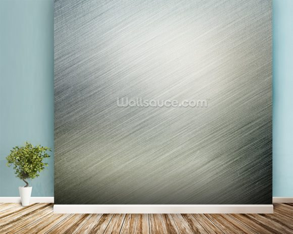 Metallic Effect wall mural room setting