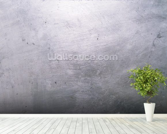 Brushed Metal Texture wallpaper mural room setting