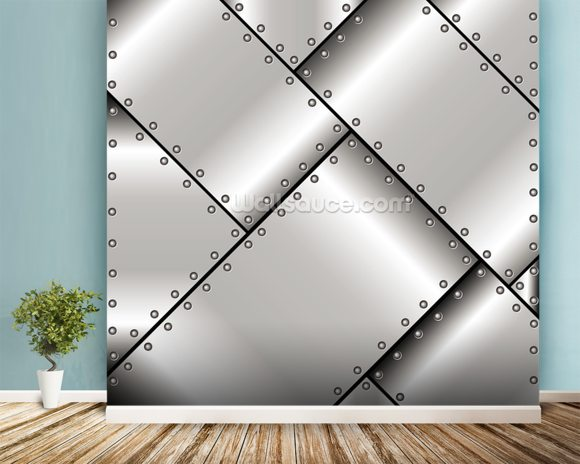 Metal Weave wallpaper mural room setting