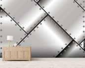 Metal Weave wallpaper mural living room preview