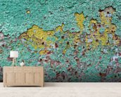 Patina mural wallpaper living room preview