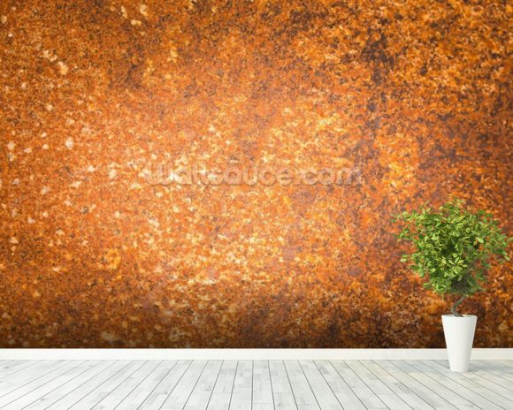 Rust Surface wall mural room setting