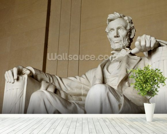 Abraham Lincoln mural wallpaper room setting