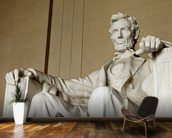 Abraham Lincoln mural wallpaper kitchen preview