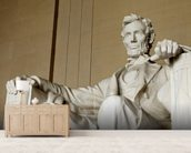 Abraham Lincoln mural wallpaper living room preview