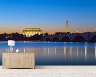 Monument Reflections at Twilight Wall Mural Wall Murals Wallpaper