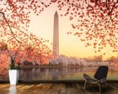 The Washington Monument and Cherry Blossom wall mural kitchen preview