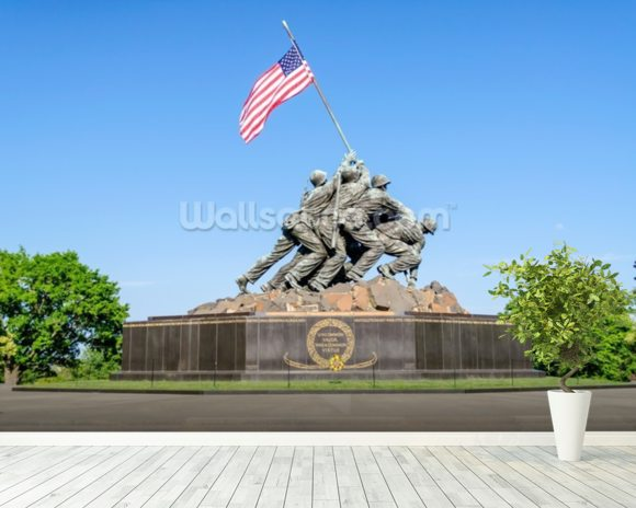 Iwo Jima Memorial wallpaper mural room setting