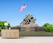 Iwo Jima Memorial wallpaper mural living room preview