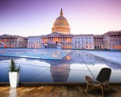The United States Capitol at Dusk mural wallpaper kitchen preview