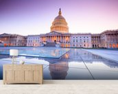 The United States Capitol at Dusk mural wallpaper living room preview