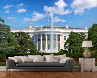 The White House Wall Mural Wall Murals Wallpaper