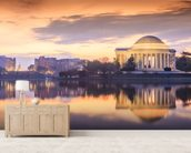 The Jefferson Memorial mural wallpaper living room preview