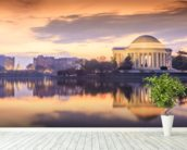 The Jefferson Memorial mural wallpaper in-room view