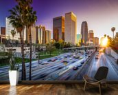Los Angeles Downtown at Sunset wall mural kitchen preview