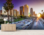 Los Angeles Downtown at Sunset wall mural living room preview
