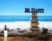 Be Happy wall mural kitchen preview