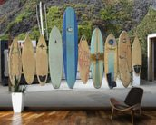 Malibu Surfboards wallpaper mural kitchen preview