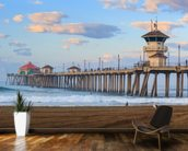 Huntington Beach Pier wallpaper mural kitchen preview