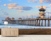 Huntington Beach Pier wallpaper mural living room preview