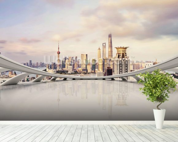 Cityscape Wallpaper Wall Mural