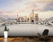 Cityscape mural wallpaper kitchen preview