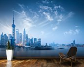 Shanghai at Dawn wallpaper mural kitchen preview