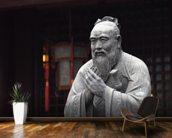 Statue of Confucius wall mural kitchen preview
