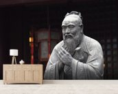 Statue of Confucius wall mural living room preview